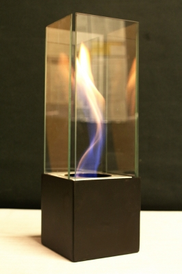 Glass in Fire Feature portable safe burn indoors inside