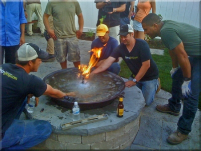 Yard Crashers Diy Chicago Hgtv Fire Pit Burning Water